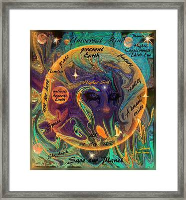 Save Our Planet Framed Print by Sherri's Of Palm Springs