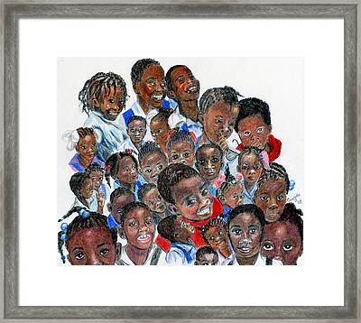 Framed Print featuring the painting Save The Children by Quwatha Valentine