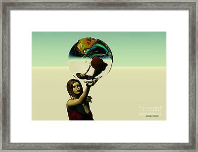 Save The Earth Framed Print by Corey Ford