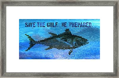 Save The Gulf America 2 Framed Print by Paul Gaj