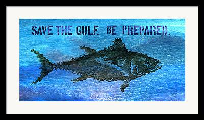 Gulf Oil Spill Framed Prints