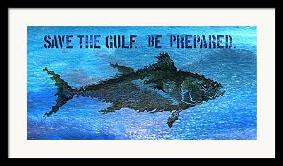 Oil Spills Framed Prints