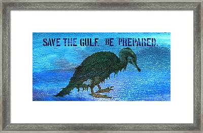 Save The Gulf America 3 Framed Print by Paul Gaj