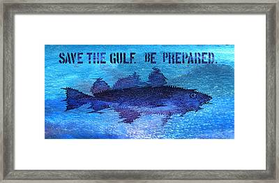 Save The Gulf America Framed Print by Paul Gaj