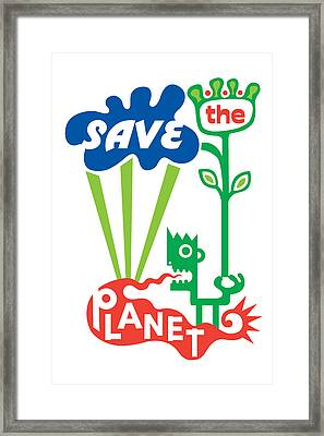 Save The Planet  Framed Print by Andi Bird