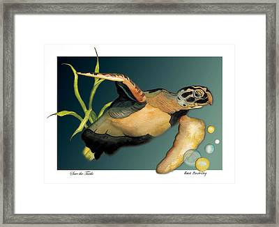 Save The Turtle Framed Print by Anne Beverley-Stamps
