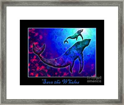 Save The Whales Framed Print by Nick Gustafson