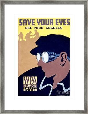 Save Your Eyes Framed Print
