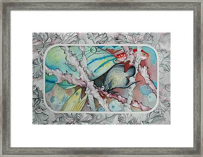 Saving The Reefs II Framed Print by Liduine Bekman
