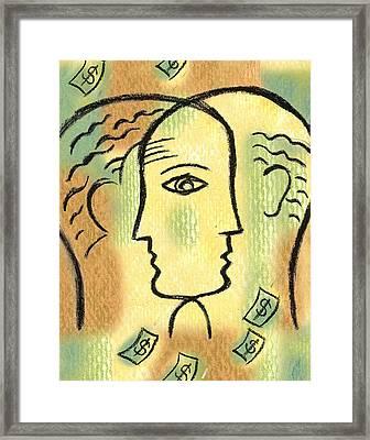 Savings Framed Print by Leon Zernitsky