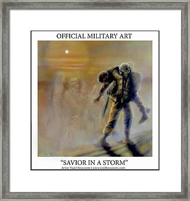 Savior In A Storm Framed Print