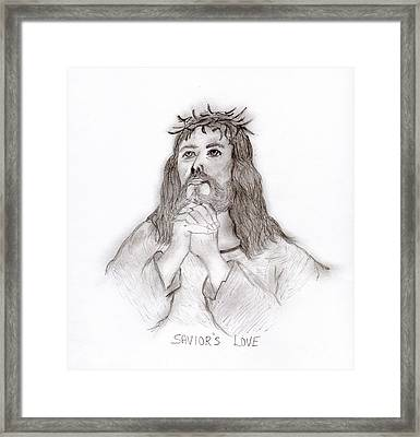 Savior's Love Framed Print by Sonya Chalmers