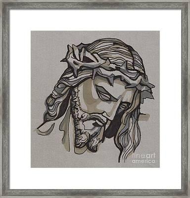 Saviour No 3 Framed Print by Edward Ruth