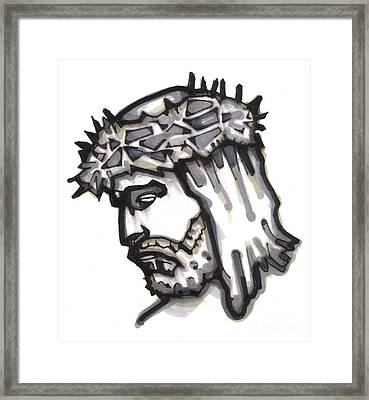 Saviour No 4 Framed Print by Edward Ruth