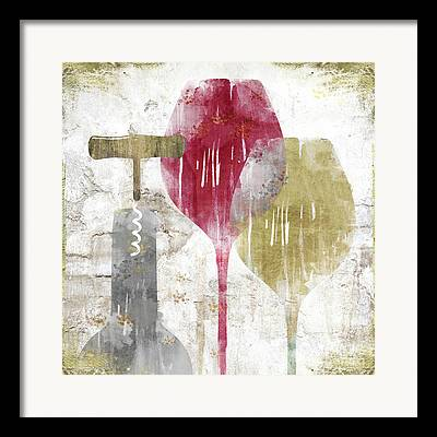 Stylized Beverage Paintings Framed Prints