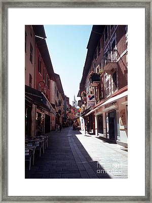 Savoy Crescent And Bell Tower Framed Print
