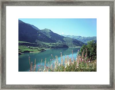Savoy Lake Scene Framed Print