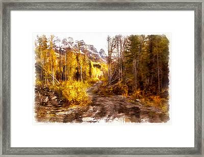 Sawmill Road Framed Print