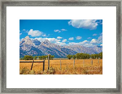 Framed Print featuring the photograph Saw Tooth Mountains  by Robert Pearson