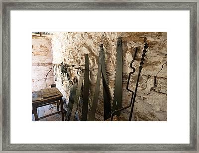 Saw Workshop Framed Print by Niel Morley