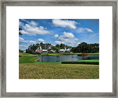 Sawgrass 17th Hole Framed Print by Judy Vincent