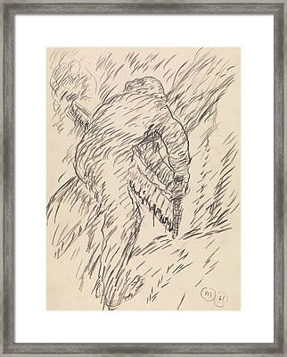 Sawing Wood Framed Print by Marsden Hartley