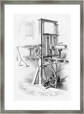 Sawmill. From Cyclopaedia Of Useful Framed Print