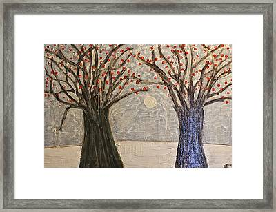 Sawsan's Trees Framed Print
