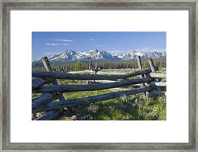 Sawtooth Range Framed Print