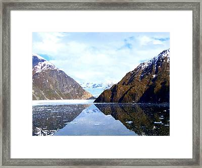 Sawyer Glacier 2 Framed Print by Randall Weidner