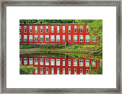 Sawyer Mill Reflection Framed Print