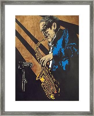 Sax After Dark Framed Print by Shane Hurd