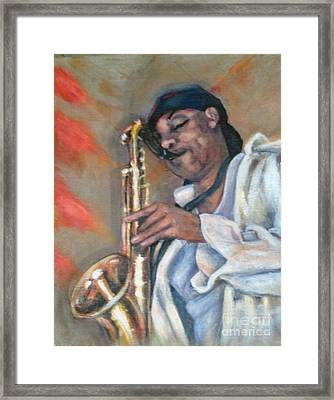 Sax And Linen Framed Print