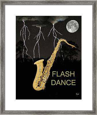Sax Flash Dance Framed Print