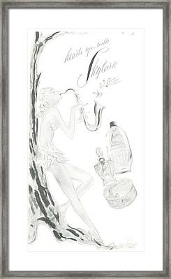 Framed Print featuring the digital art Sax Girl by ReInVintaged