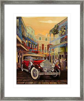 Sax In The City Framed Print