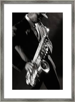 Sax Man 1 Framed Print