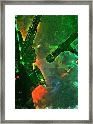 Sax Man Framed Print