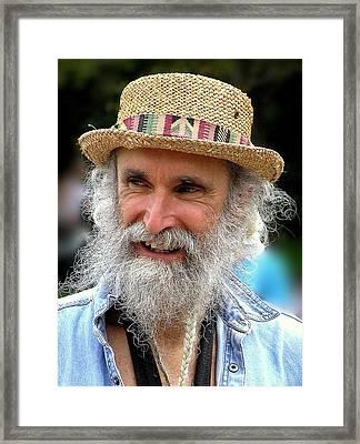 Sax Man Framed Print by Jen White