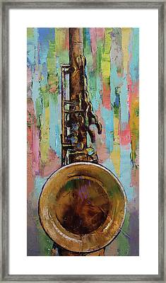 Sax Framed Print by Michael Creese