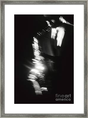 Sax Player 3 Framed Print by Tony Cordoza