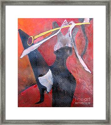 Sax Player Framed Print