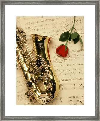 Sax Romance Framed Print