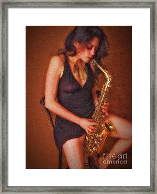 Sax Solo  ... Framed Print
