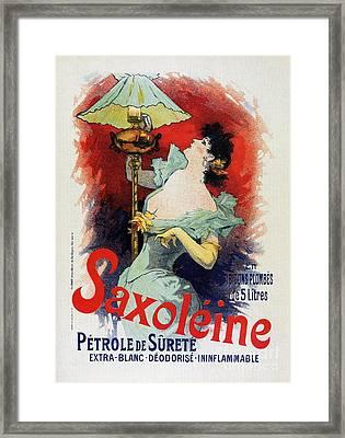 Saxoleine Lamp Oil Ad Framed Print by Aapshop