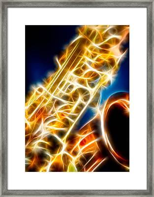 Saxophone 2 Framed Print by Hakon Soreide