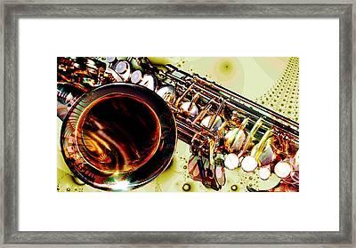 Saxophone Bell - Fantasy - Musical Instruments Framed Print