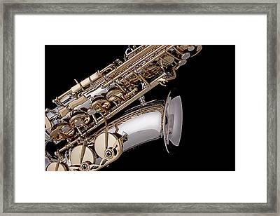 Saxophone Isolated Black Framed Print by M K  Miller