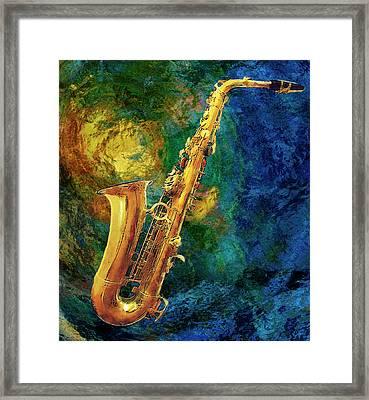 Saxophone Framed Print by Jack Zulli