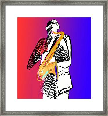 Saxophone Player Framed Print